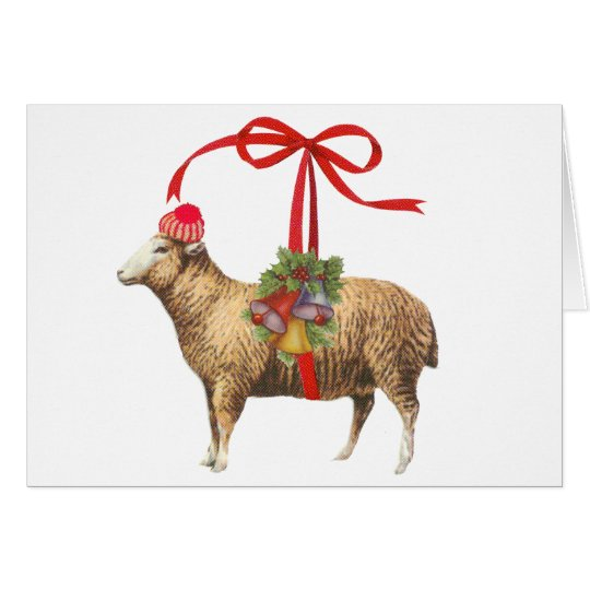 Christmas sheep カード
