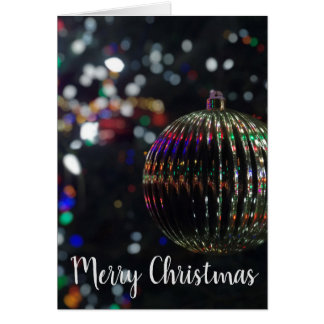 Christmas Silver Ornament カード