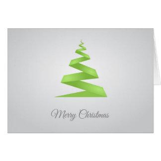 Christmas Simple Ribbon Christmas Tree カード