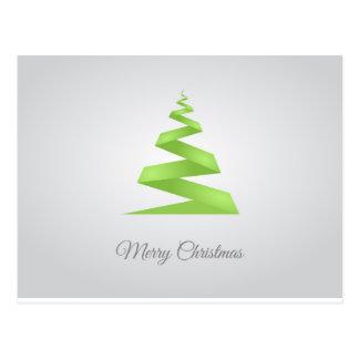 Christmas Simple Ribbon Christmas Tree ポストカード