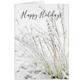 Christmas Snow Frozen Winter Branches Natures カード