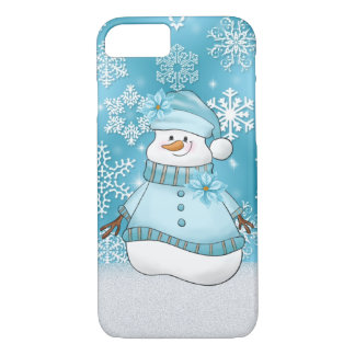 Christmas snow woman Holiday eight seven case iPhone 8/7ケース