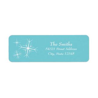 Christmas Sparkling Snowflake Address Label ラベル
