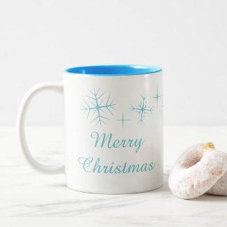 Christmas Sparkling Snowflake Mug ツートーンマグカップ