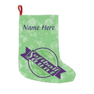 Christmas Stockingカスタマイズ可能なソフトボールの叔母さん スモールクリスマスストッキング