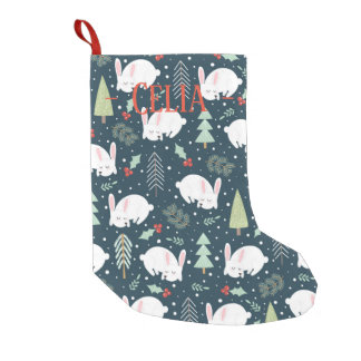 Christmas Stocking - Sleeping Christmas Bunnies スモールクリスマスストッキング