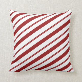 Christmas Striped Candy Cane Cute Holiday Decor クッション