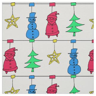 Christmas tree decorations ファブリック