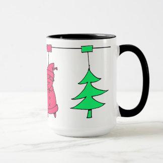 Christmas tree decorations マグカップ