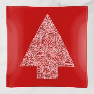 Christmas Tree Red トリンケットトレー