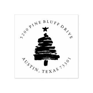 Christmas Tree | Return Address Rubber Stamp ラバースタンプ