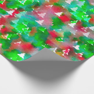Christmas Tree Wrapping Paper Watercolor ラッピングペーパー