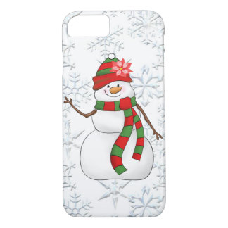 Christmas watercolor snow woman 8/7 case iPhone 8/7ケース