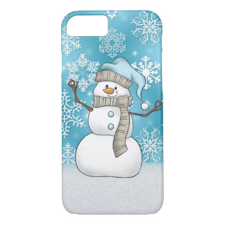 Christmas watercolor snowman 8/7 case iPhone 8/7ケース