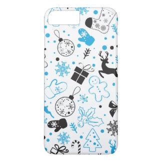 Christmassyおもしろいでカラフルなパターン iPhone 8 Plus/7 Plusケース