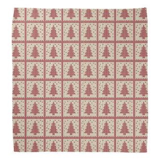 Christmassyの赤によって編まれるパターン バンダナ