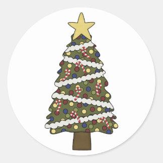 ChristmasTreeのオーナメント-色を選んで下さい! ラウンドシール