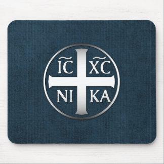 Christogram ICXC NIKAイエス・キリストは征服します マウスパッド