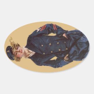 Christyヴィンテージ海軍女の子のハワードのチャンドラー 楕円形シール