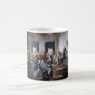 Christy著米国憲法の署名 コーヒーマグカップ