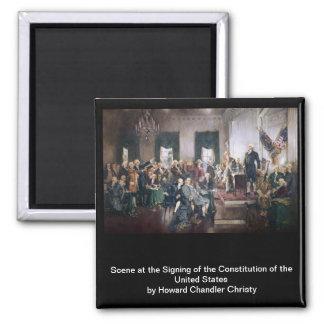 Christy著米国憲法の署名 マグネット