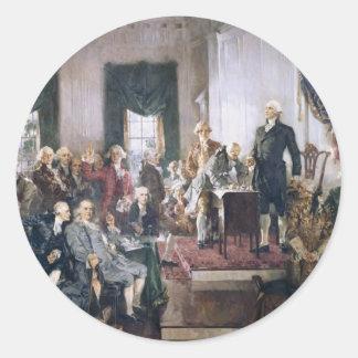 Christy著米国憲法の署名 ラウンドシール
