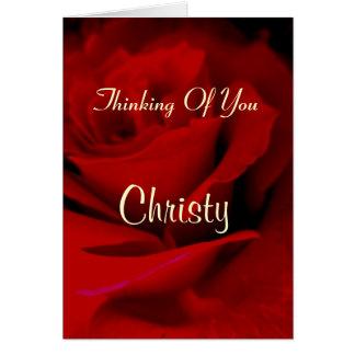 Christy カード
