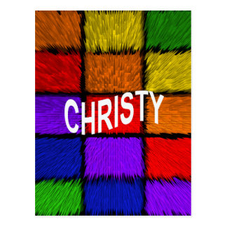 CHRISTY ポストカード