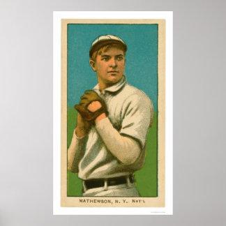 Christy Mathewsonの野球1909年 ポスター