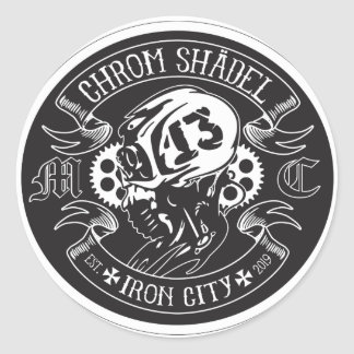 Chrom Shadelのラベル ラウンドシール