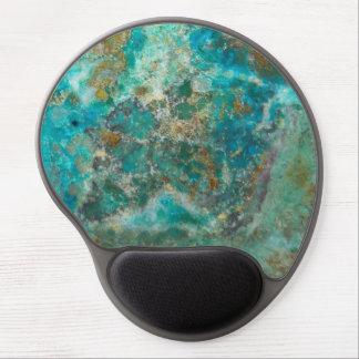 Chrysocollaの青い石造りのイメージ ジェルマウスパッド