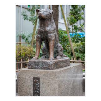 Chuken Hachikoの彫像 ポストカード