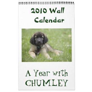 Chumley 2010の壁掛けカレンダーとの年 カレンダー