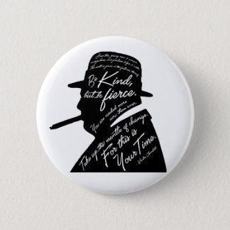 Churchillの円形ボタン 5.7cm 丸型バッジ