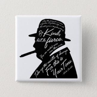 Churchillの正方形ボタン 5.1cm 正方形バッジ