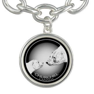 Churchillの白くまのブレスレットのChurchillの記念品 チャームブレスレット