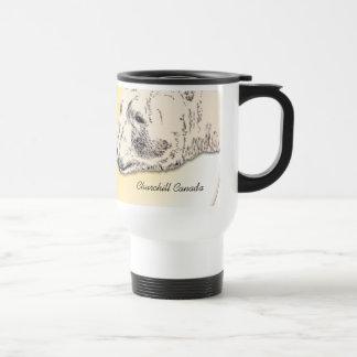 Churchillの記念品のコップの白くまの芸術はギフトを襲います トラベルマグ