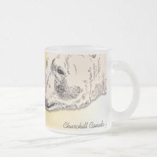 Churchillの記念品のコップの白くまの芸術はギフトを襲います フロストグラスマグカップ