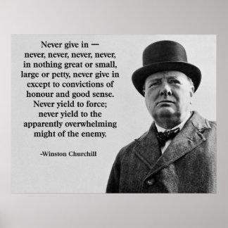 Churchillは決して屈服しません ポスター