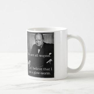 Churchill: 私はGlowwormです コーヒーマグカップ