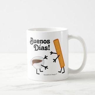 Churro及びチョコレート- Buenos Dias! コーヒーマグカップ