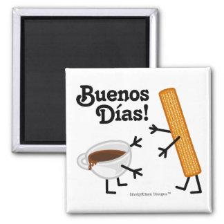 Churro及びチョコレート- Buenos Dias! マグネット