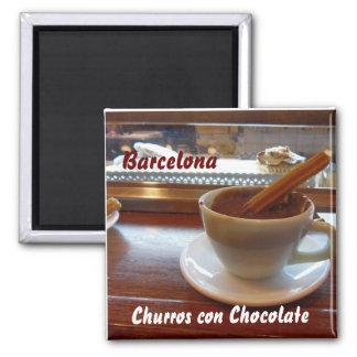 Churrosの詐欺チョコレート、バルセロナ マグネット