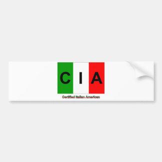 CIAによって証明されるイタリアンなアメリカ人 バンパーステッカー