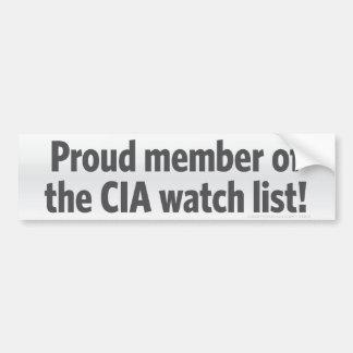 CIAの腕時計のリストのバンパーステッカー バンパーステッカー