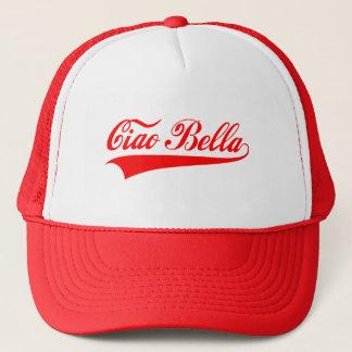 ciaoのbella、イタリアンな挨拶、文字デザインな単語の芸術 キャップ