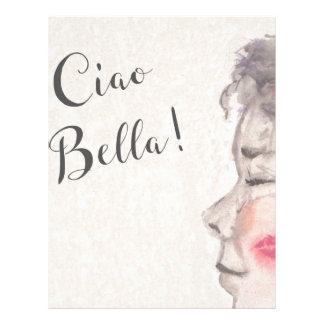 Ciao Bellaのオリジナルの水彩画 レターヘッド
