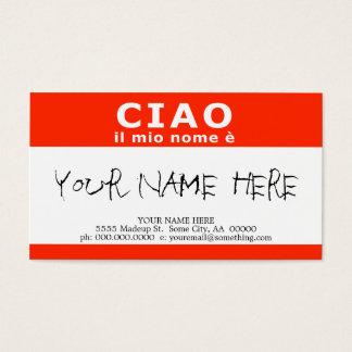 CIAO ilの縮小nome e 名刺
