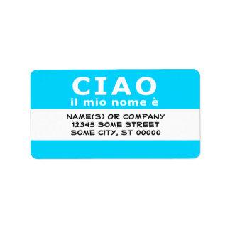 CIAO ilの縮小nome e (青い) ラベル