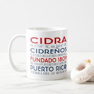 Cidra、プエルトリコ コーヒーマグカップ
